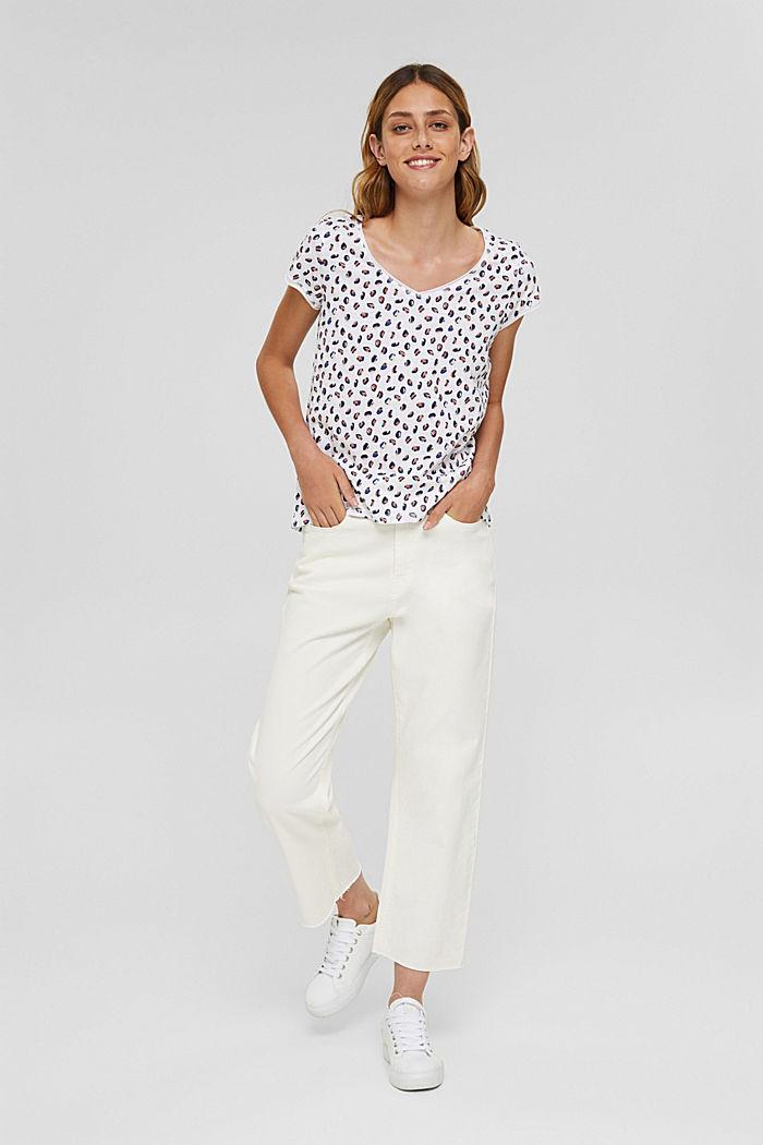 Printed T-shirt made of organic cotton, WHITE, detail image number 6