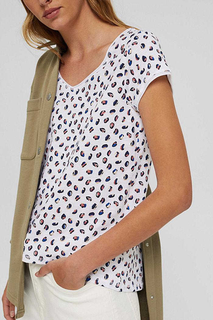 Printed T-shirt made of organic cotton, WHITE, detail image number 2