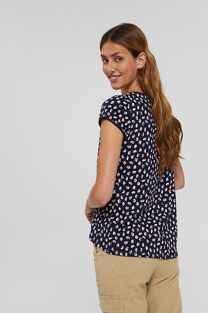 T-Shirt mit Print aus Organic Cotton, NAVY BLUE, detail image number 3