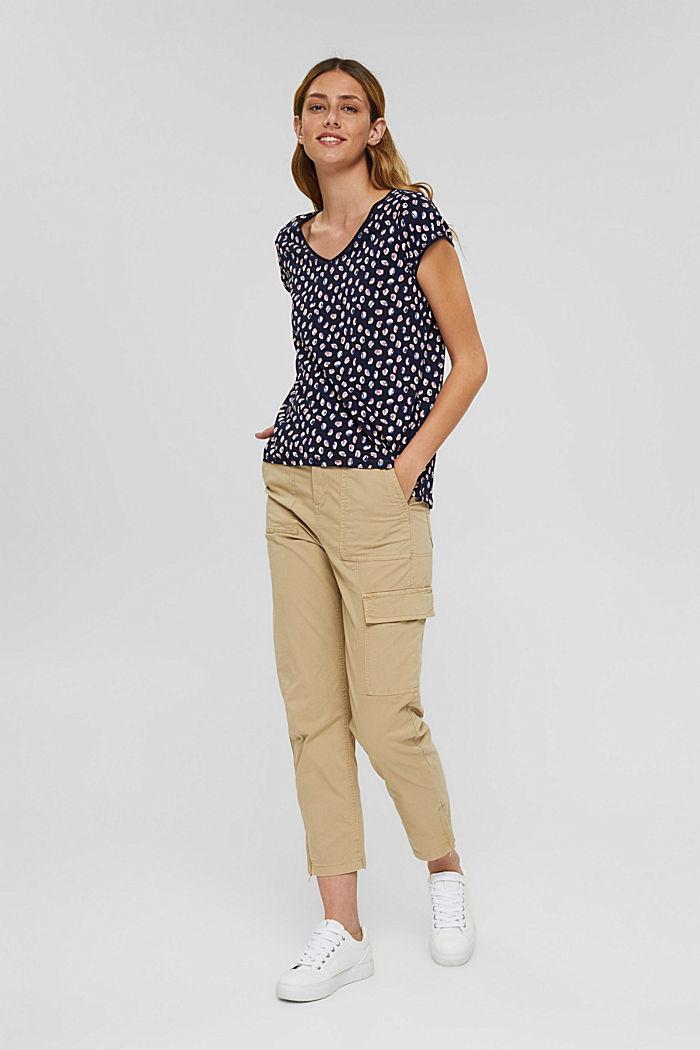 T-Shirt mit Print aus Organic Cotton, NAVY BLUE, detail image number 1