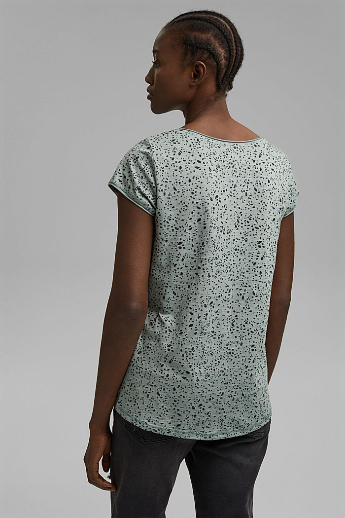 Printed T-shirt made of organic cotton, TURQUOISE, detail image number 3