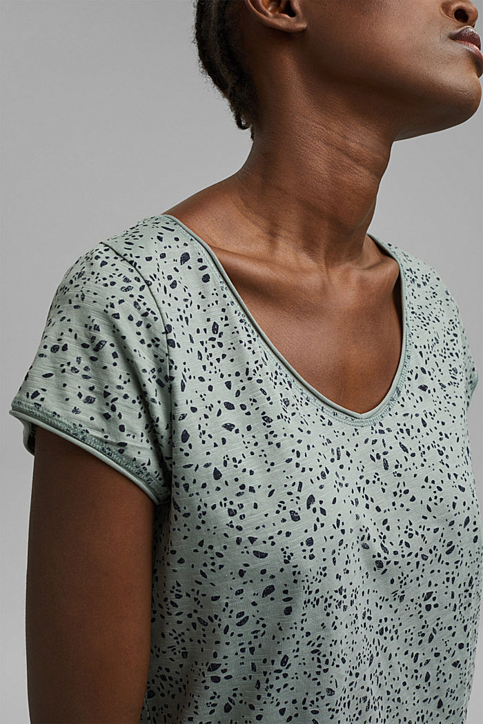 Printed T-shirt made of organic cotton, TURQUOISE, detail image number 2