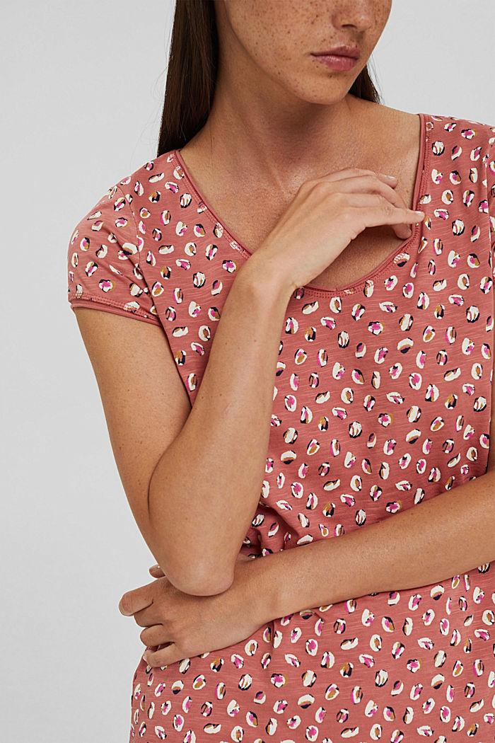 T-Shirt mit Print aus Organic Cotton, BLUSH, detail image number 2