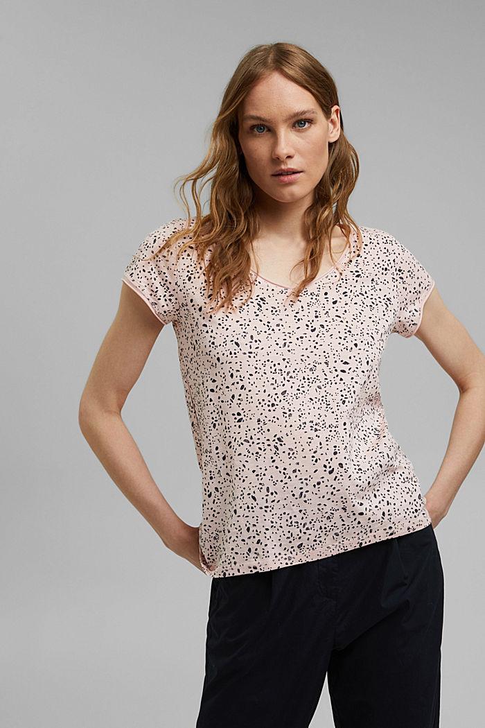 Tričko s potiskem, z bio bavlny, NUDE, detail image number 0