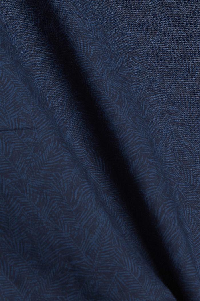 Short chino orné d´un imprimé all-over, coton biologique, NAVY, detail image number 4