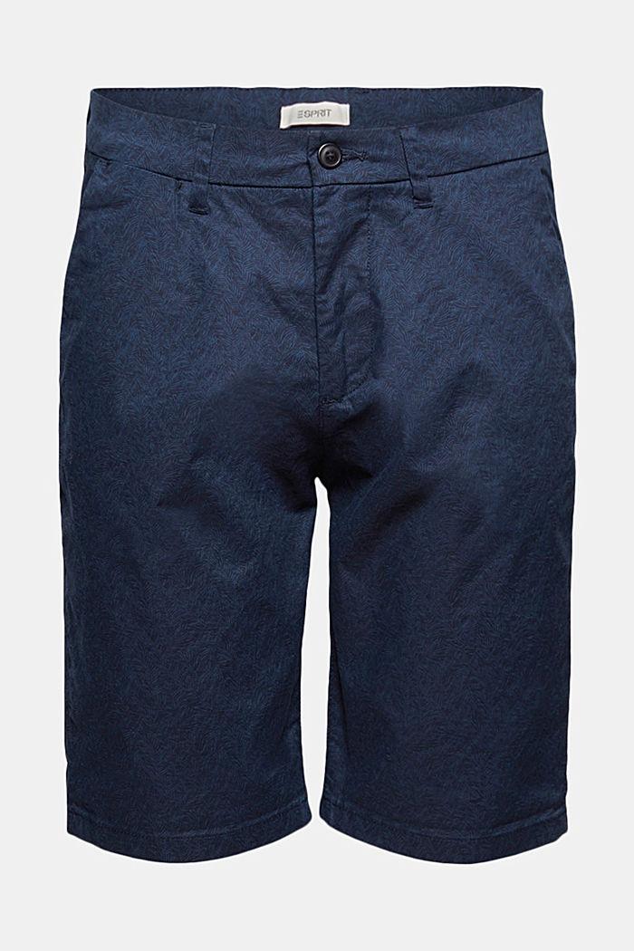 Chino-Shorts mit Allover-Print, Organic Cotton