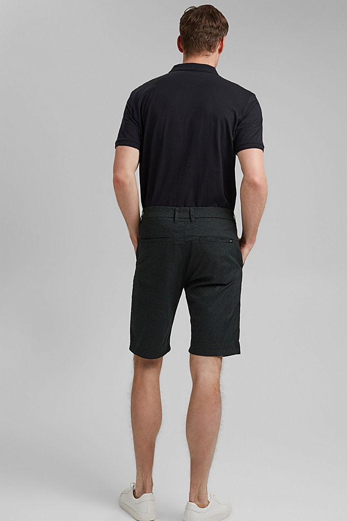 Chino-Shorts mit Allover-Print, Organic Cotton, TEAL GREEN, detail image number 3