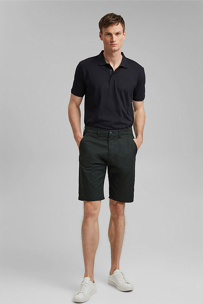 Chino-Shorts mit Allover-Print, Organic Cotton, TEAL GREEN, detail image number 5