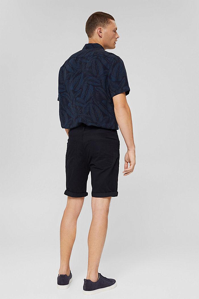 Shorts de algodón ecológico, BLACK, detail image number 3