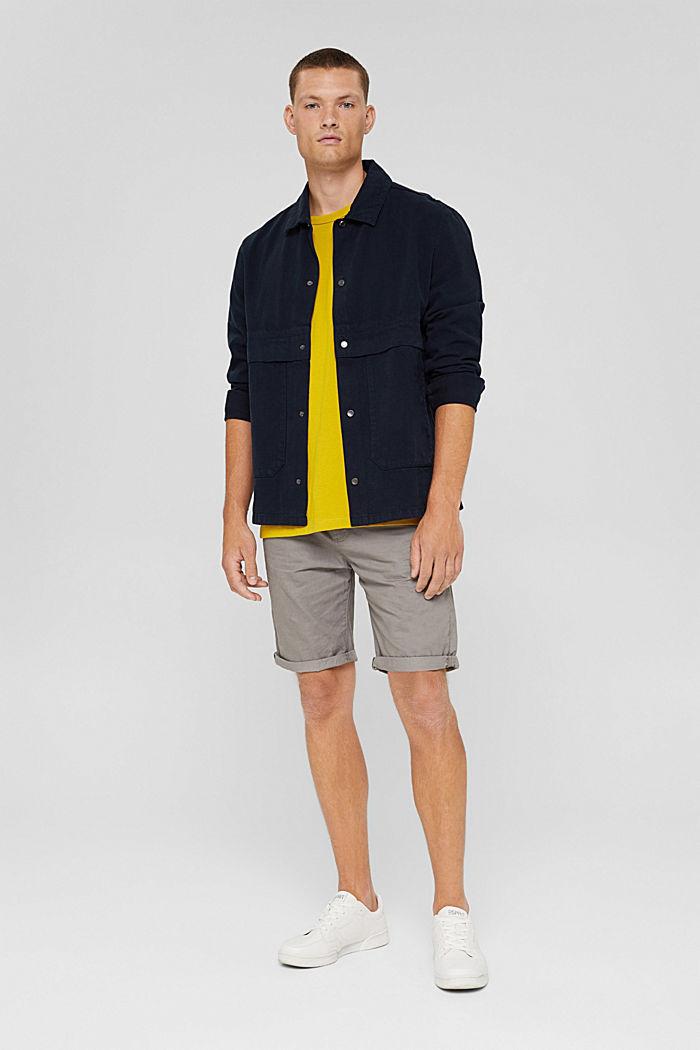 Shorts aus Organic Cotton, GREY, detail image number 1