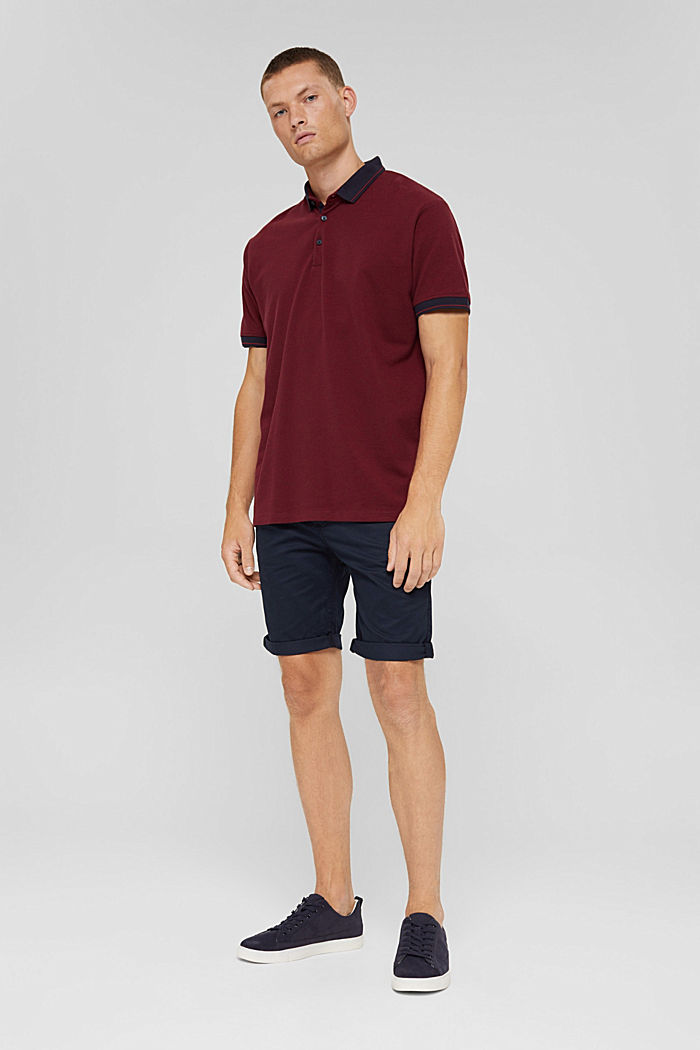 Shorts in organic cotton, DARK BLUE, detail image number 1