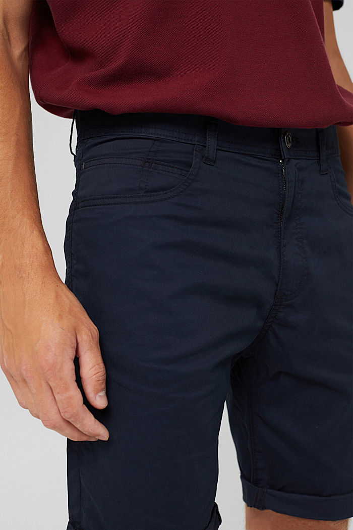 Shorts in organic cotton, DARK BLUE, detail image number 2