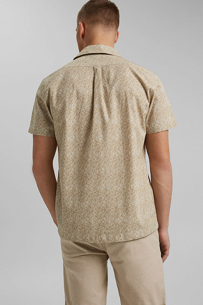 Short-sleeved shirt with print, organic cotton, BEIGE, detail image number 3