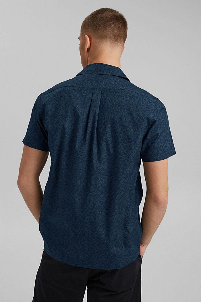 Kurzarm-Hemd mit Print, Organic Cotton, TEAL BLUE, detail image number 3