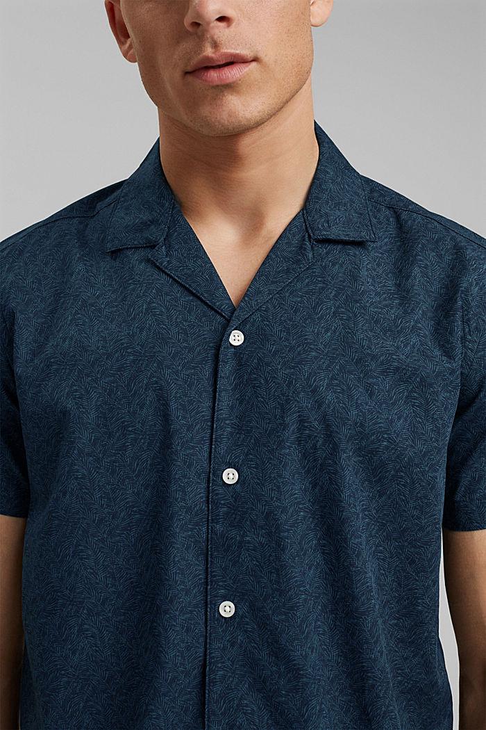 Kurzarm-Hemd mit Print, Organic Cotton, TEAL BLUE, detail image number 2