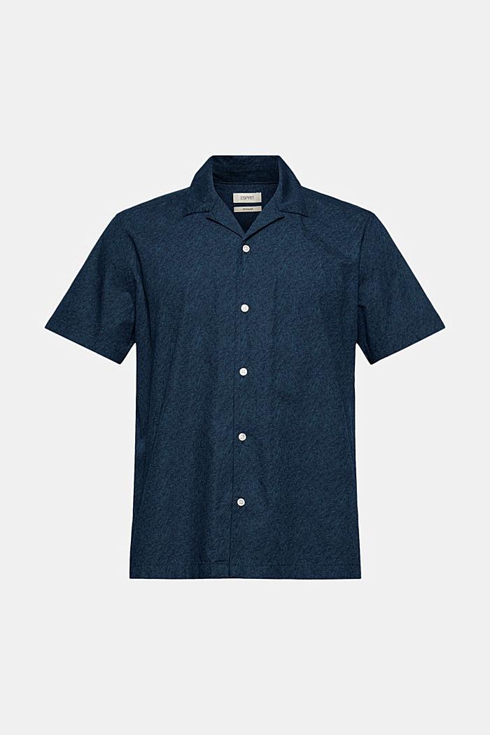Kurzarm-Hemd mit Print, Organic Cotton
