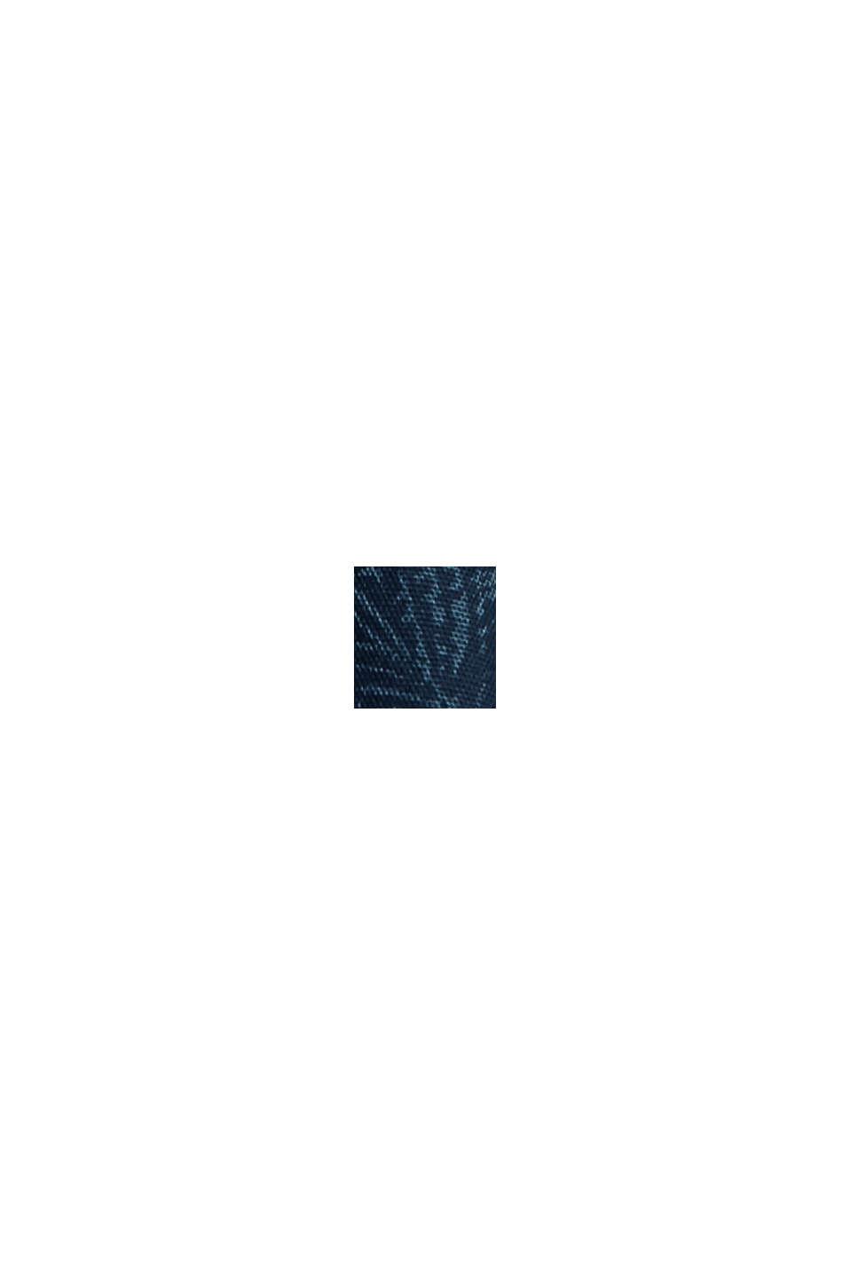 Kurzarm-Hemd mit Print, Organic Cotton, TEAL BLUE, swatch