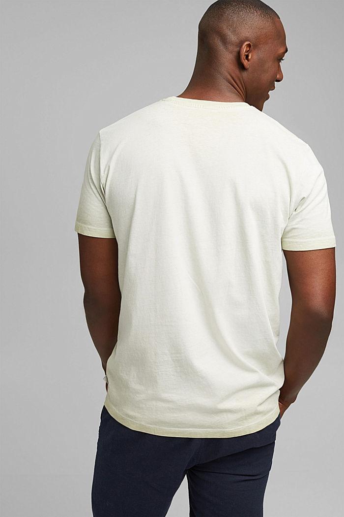 Jersey shirt met pigmentkleuring, biologisch katoen, PASTEL GREEN, detail image number 3