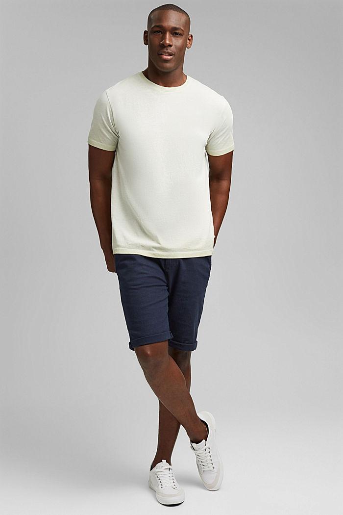 Jersey shirt met pigmentkleuring, biologisch katoen, PASTEL GREEN, detail image number 2