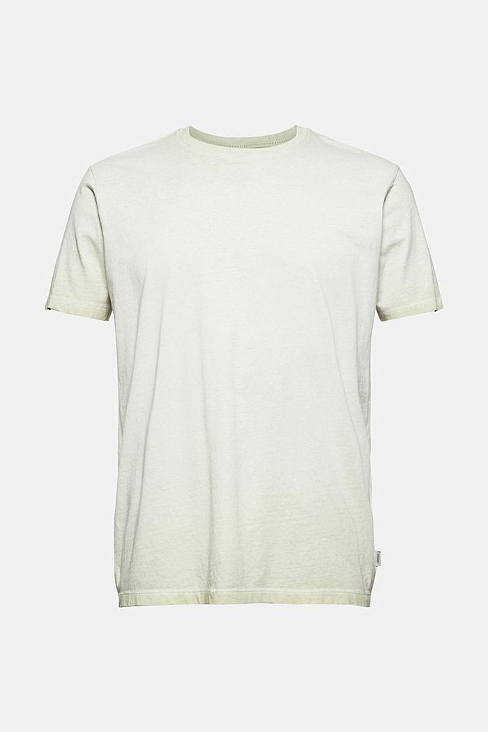 Jersey shirt met pigmentkleuring, biologisch katoen, PASTEL GREEN, detail image number 6