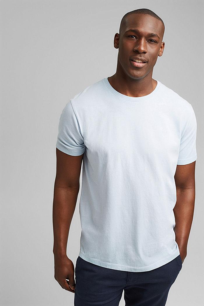 Jersey-Shirt mit Pigmentfärbung, Bio-Baumwolle, GREY BLUE, detail image number 0