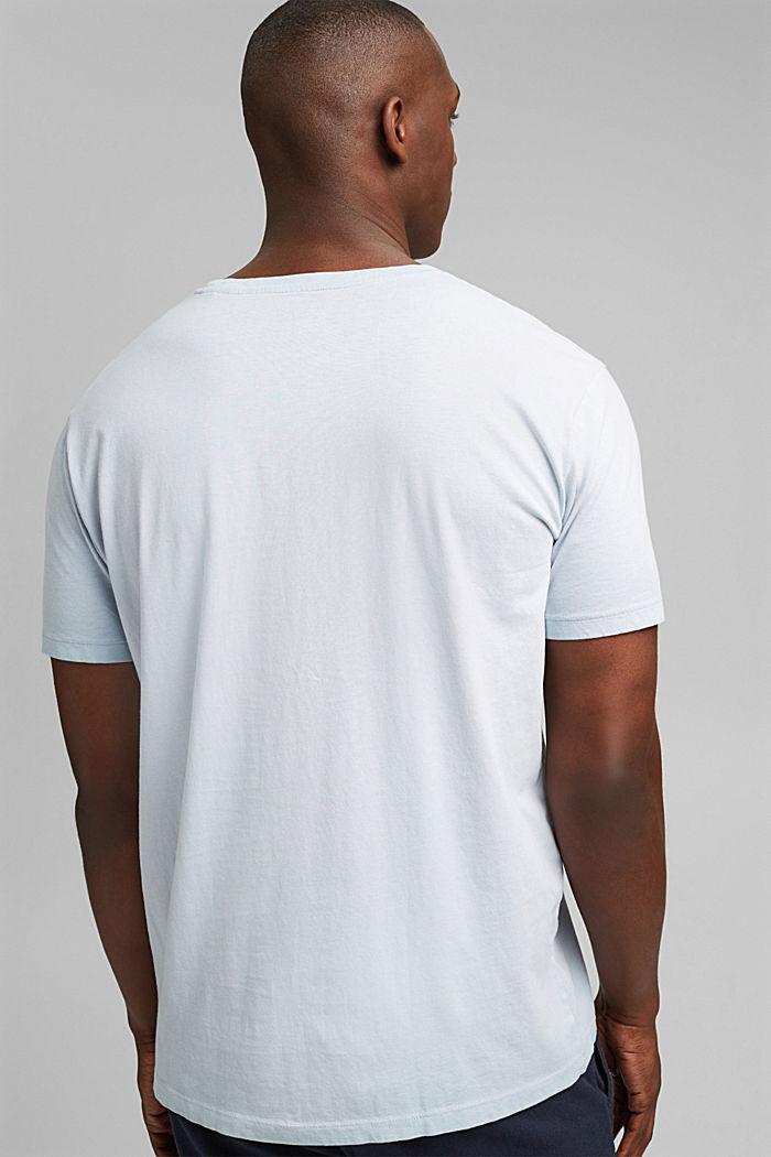 Jersey-Shirt mit Pigmentfärbung, Bio-Baumwolle, GREY BLUE, detail image number 3