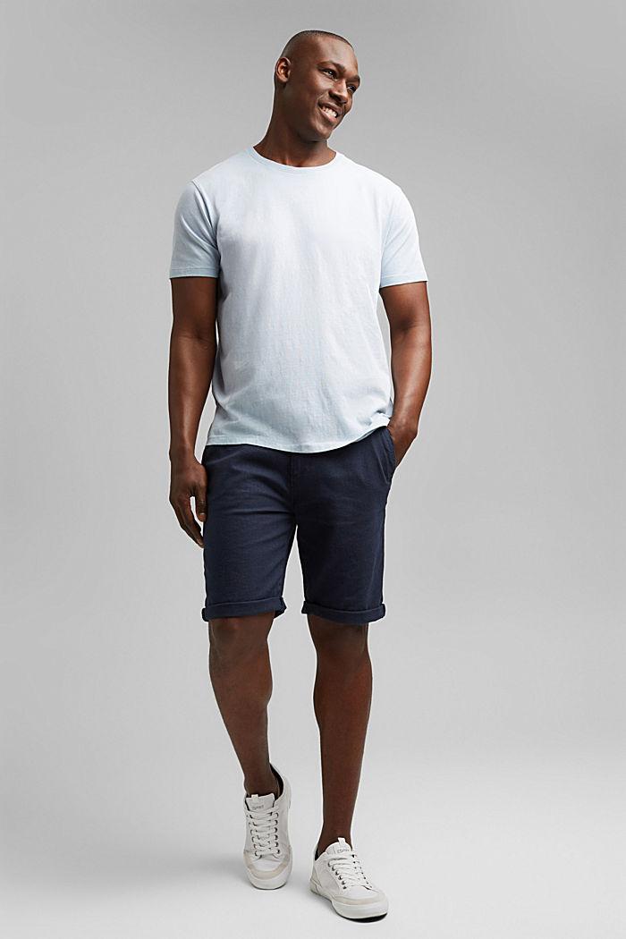 Jersey-Shirt mit Pigmentfärbung, Bio-Baumwolle, GREY BLUE, detail image number 2