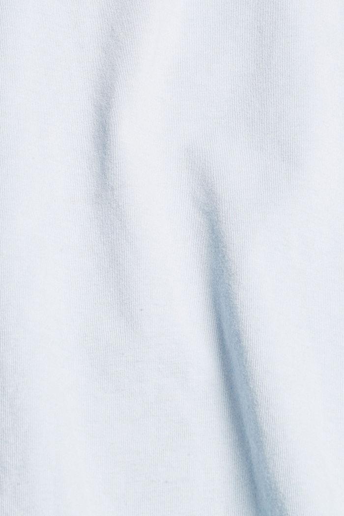 Jersey-Shirt mit Pigmentfärbung, Bio-Baumwolle, GREY BLUE, detail image number 4
