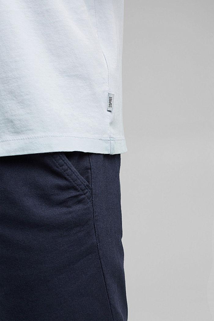 Jersey-Shirt mit Pigmentfärbung, Bio-Baumwolle, GREY BLUE, detail image number 5