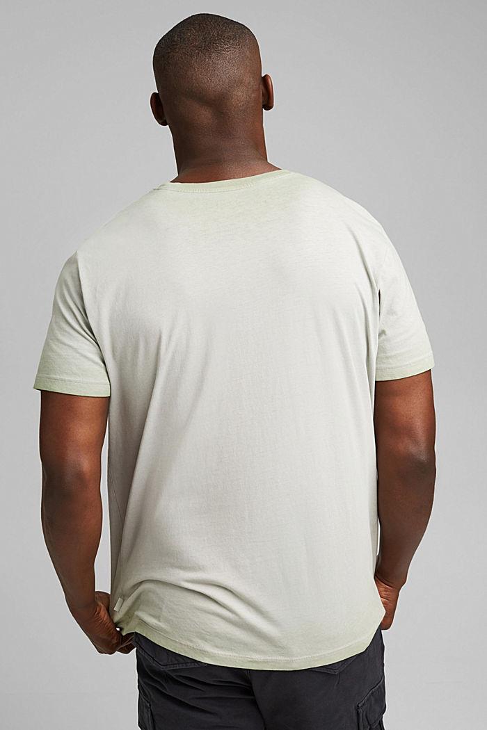 Jersey shirt met pigmentkleuring, biologisch katoen, TEAL GREEN, detail image number 3