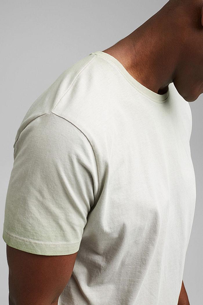 Jersey shirt met pigmentkleuring, biologisch katoen, TEAL GREEN, detail image number 1