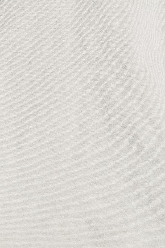 Jersey shirt met pigmentkleuring, biologisch katoen, TEAL GREEN, detail image number 4