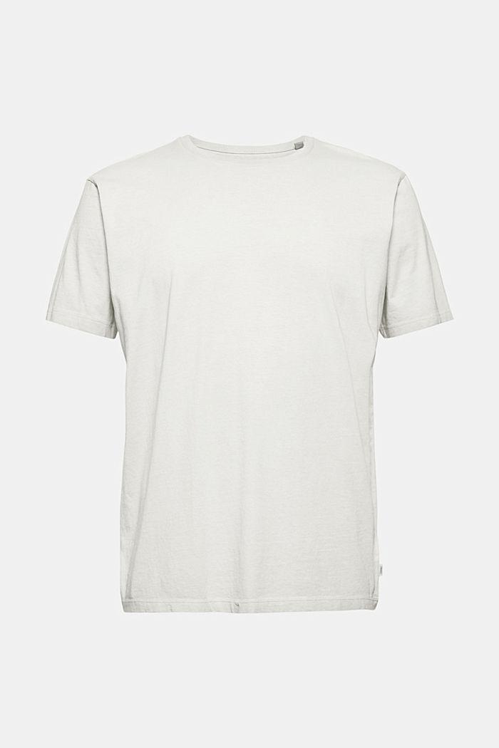 Jersey shirt met pigmentkleuring, biologisch katoen, TEAL GREEN, detail image number 6