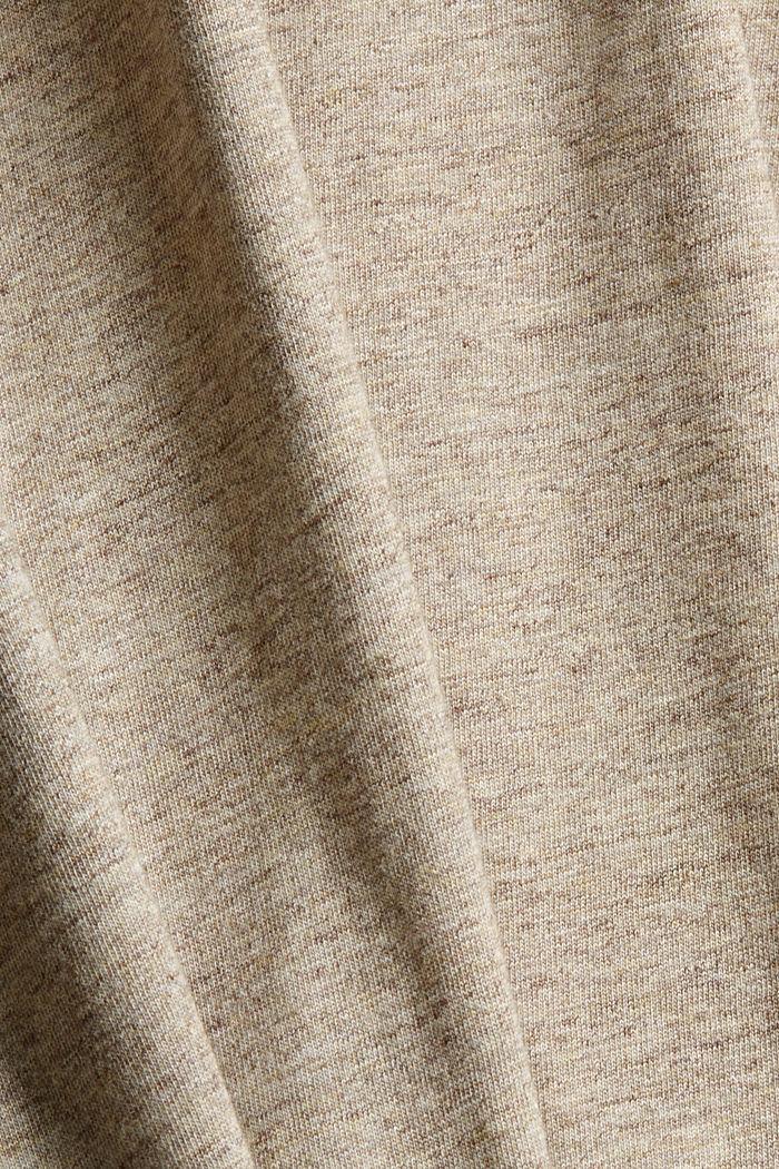Jersey-T-Shirt aus Organic Cotton, BEIGE, detail image number 4
