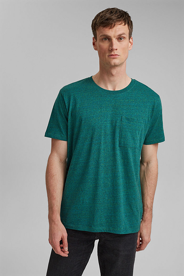 Jersey T-shirt made of organic cotton, TEAL GREEN, detail image number 0