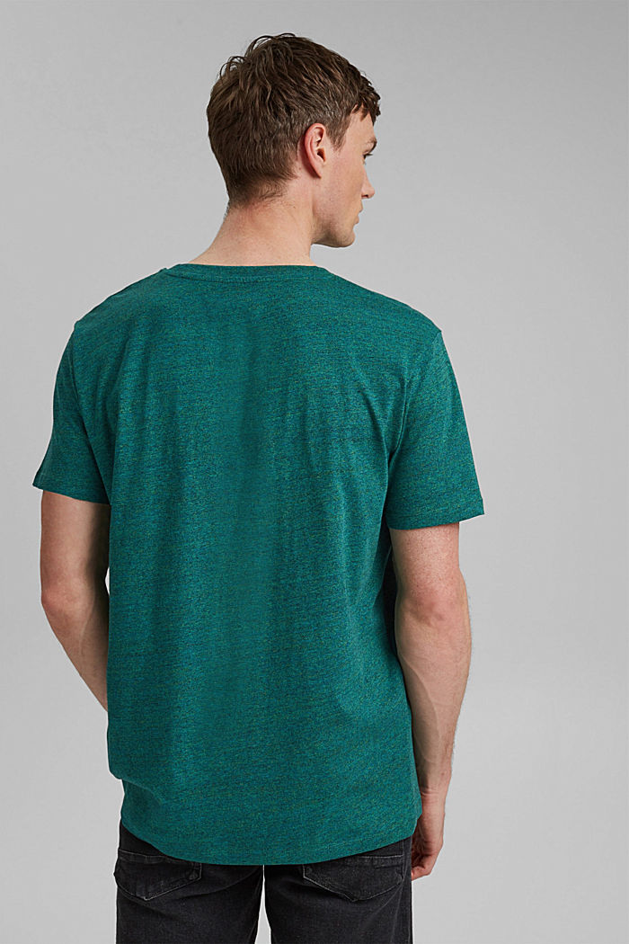 Jersey T-shirt made of organic cotton, TEAL GREEN, detail image number 3