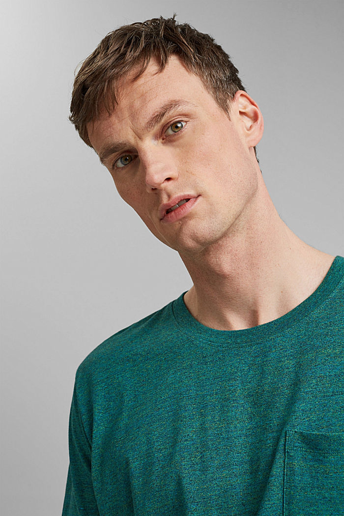 Jersey T-shirt made of organic cotton, TEAL GREEN, detail image number 5