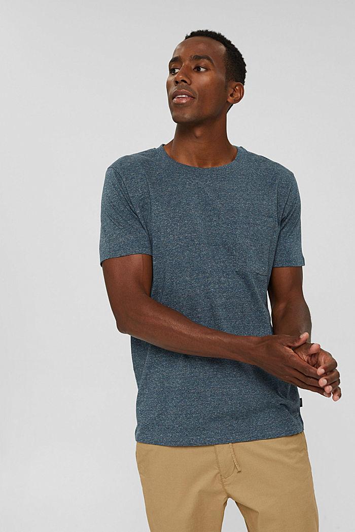 Jersey-T-Shirt aus Organic Cotton, BLUE, detail image number 0