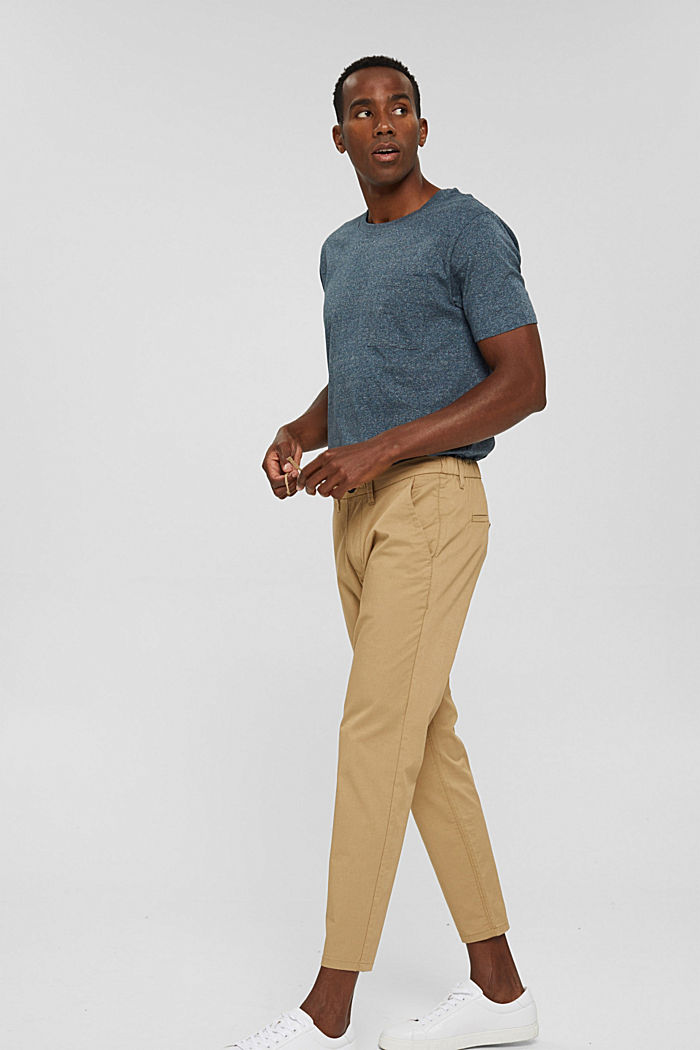 Jersey-T-Shirt aus Organic Cotton, BLUE, detail image number 4