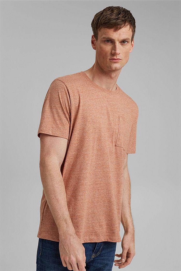 Jersey-T-Shirt aus Organic Cotton, ORANGE, detail image number 0