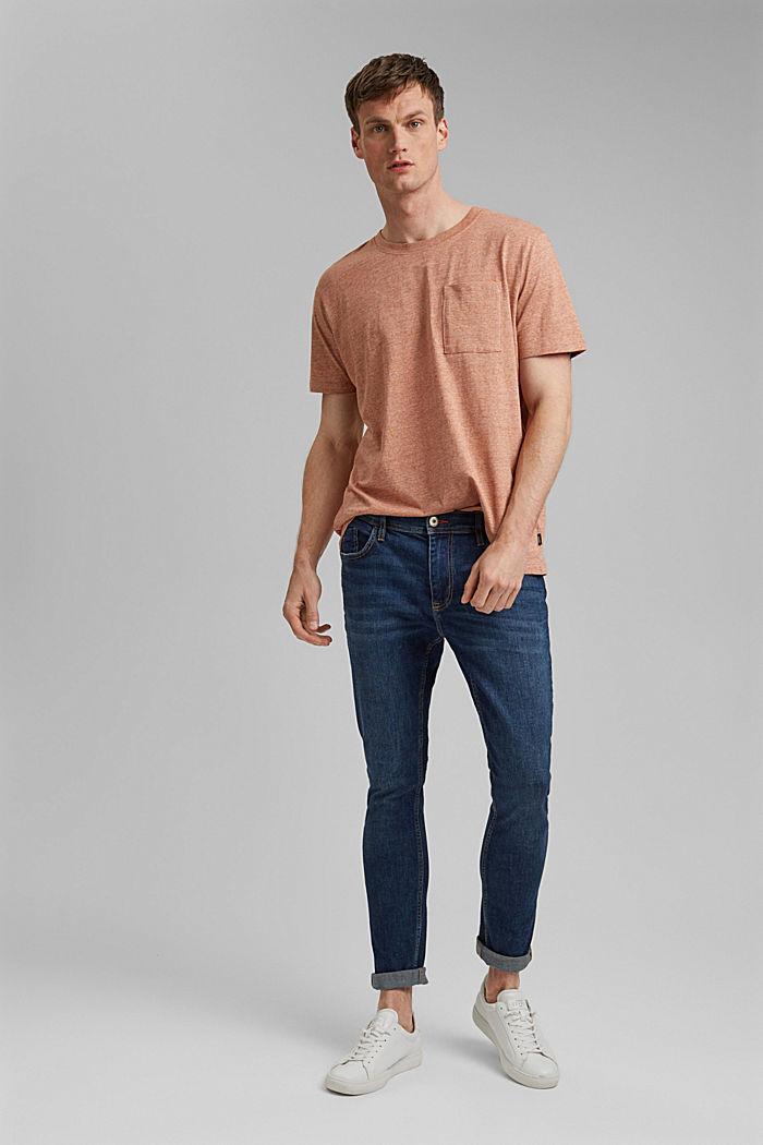 Jersey-T-Shirt aus Organic Cotton, ORANGE, detail image number 2