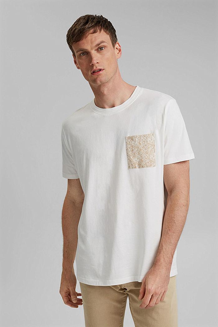 Jersey T-Shirt mit Tasche, 100% Bio-Baumwolle, OFF WHITE, detail image number 0