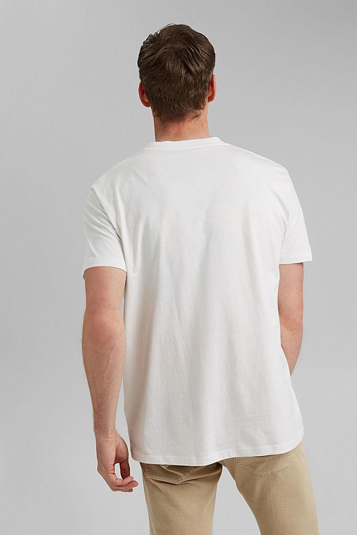 Jersey T-Shirt mit Tasche, 100% Bio-Baumwolle, OFF WHITE, detail image number 3