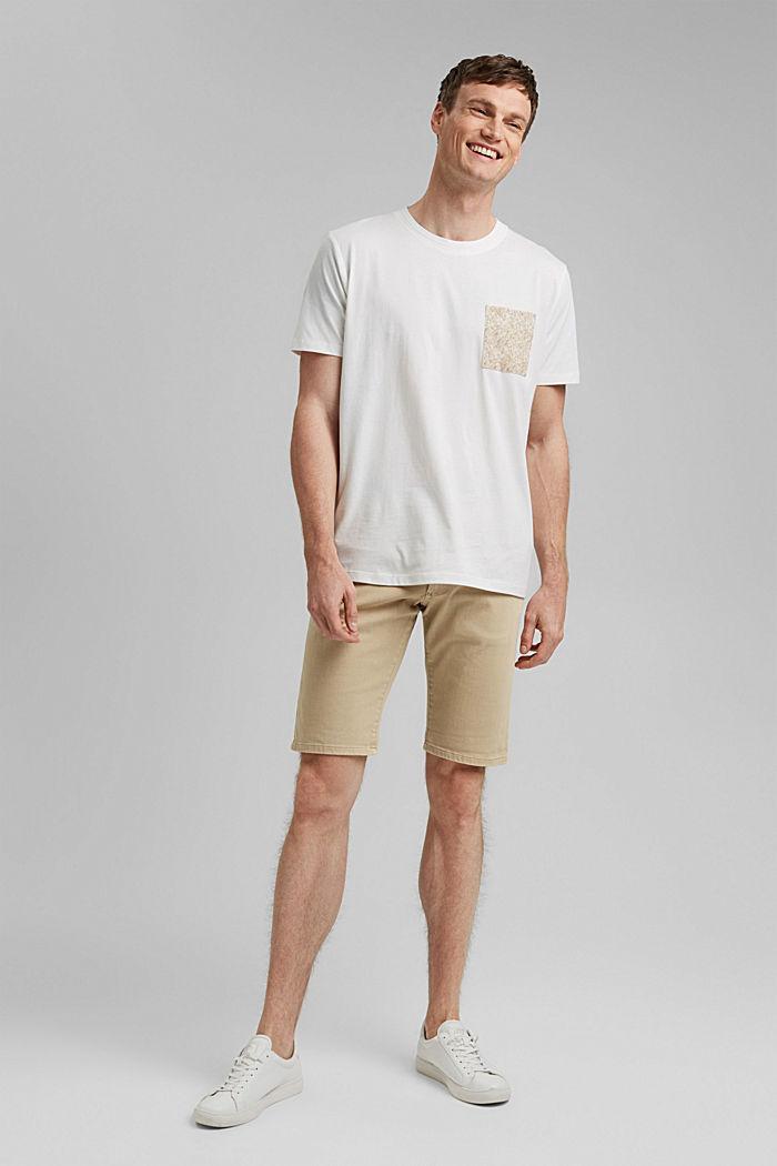 Jersey T-Shirt mit Tasche, 100% Bio-Baumwolle, OFF WHITE, detail image number 7