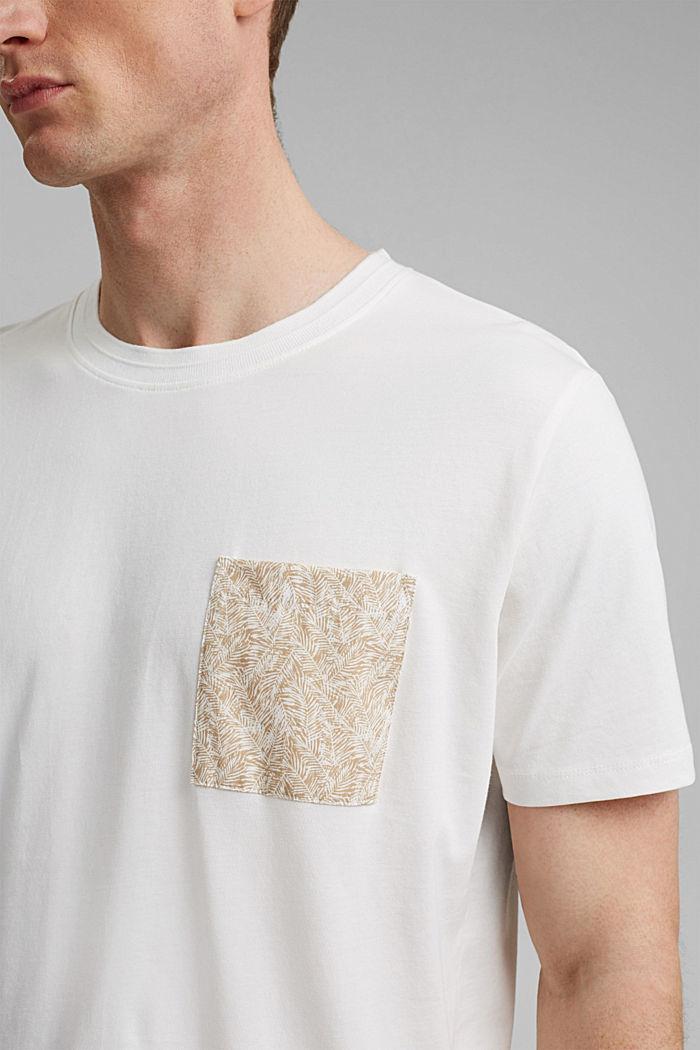 Jersey T-Shirt mit Tasche, 100% Bio-Baumwolle, OFF WHITE, detail image number 1