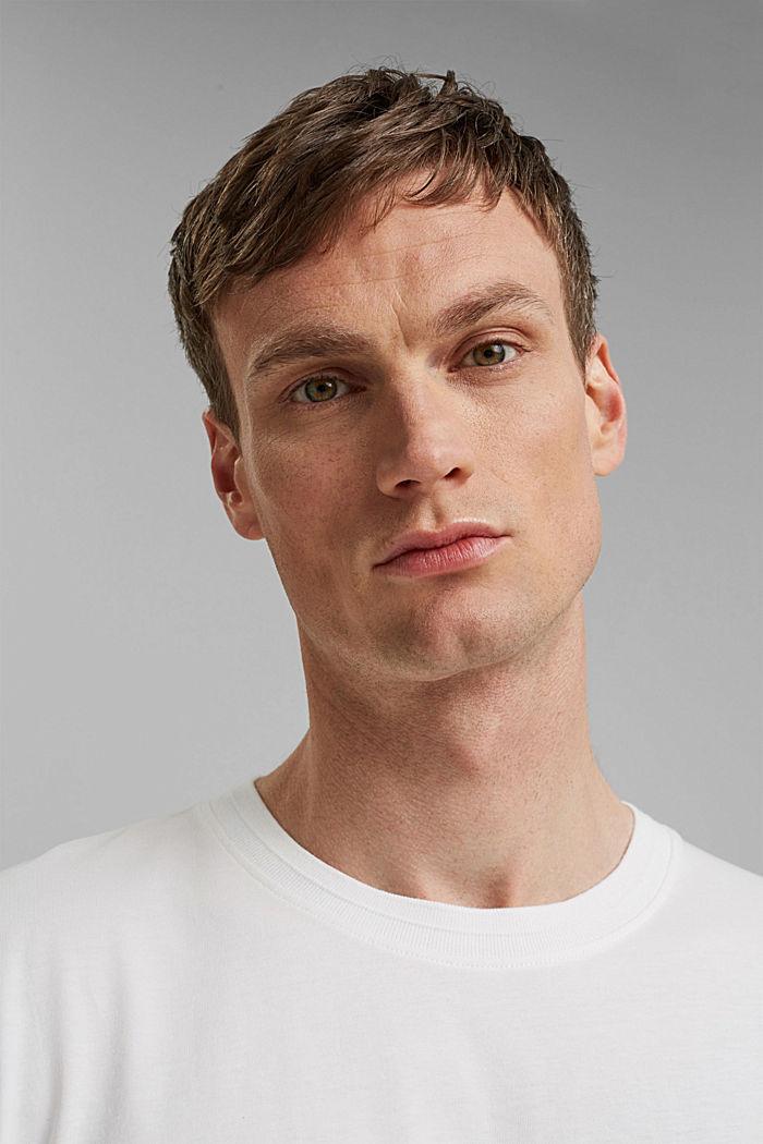 Jersey T-Shirt mit Tasche, 100% Bio-Baumwolle, OFF WHITE, detail image number 5