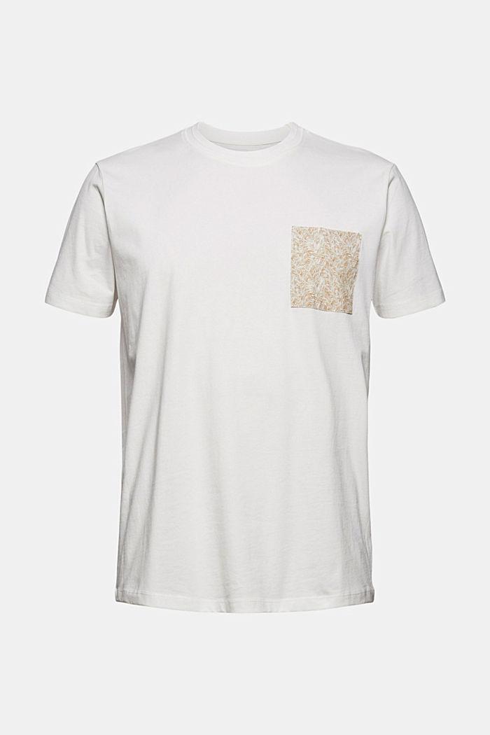 Jersey T-Shirt mit Tasche, 100% Bio-Baumwolle, OFF WHITE, detail image number 6