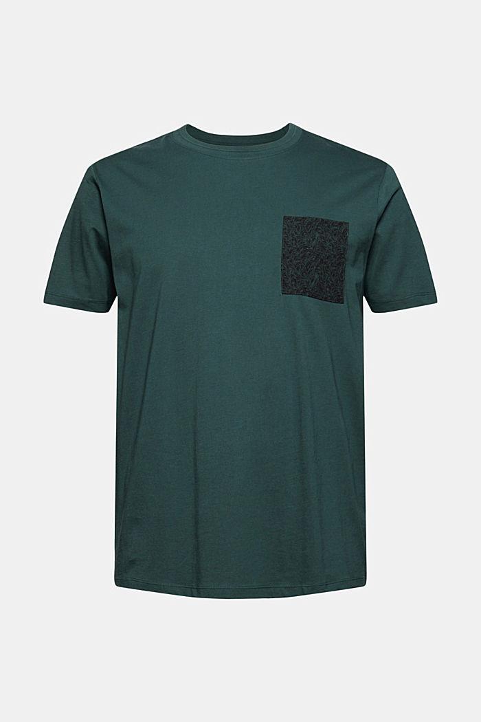 Jersey T-shirt met zak, 100% biologisch katoen, TEAL BLUE, detail image number 8