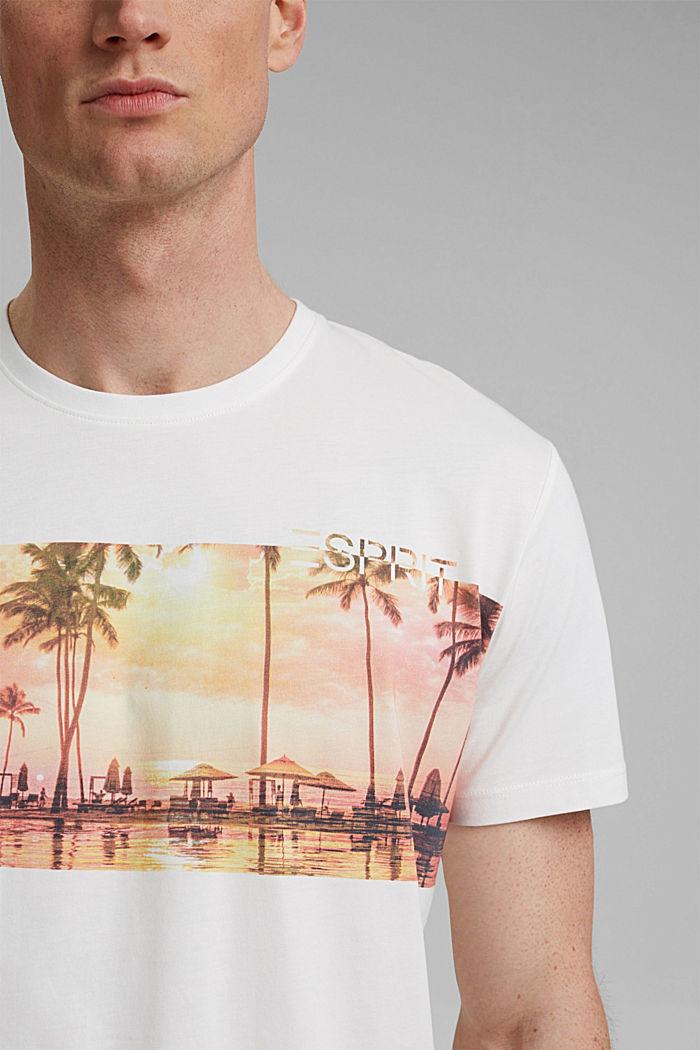 T-shirt en jersey doté d´un imprimé, 100% coton bio, OFF WHITE, detail image number 1
