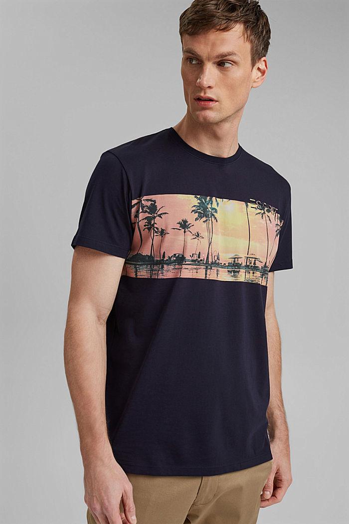 T-shirt en jersey doté d´un imprimé, 100% coton bio, NAVY, detail image number 4